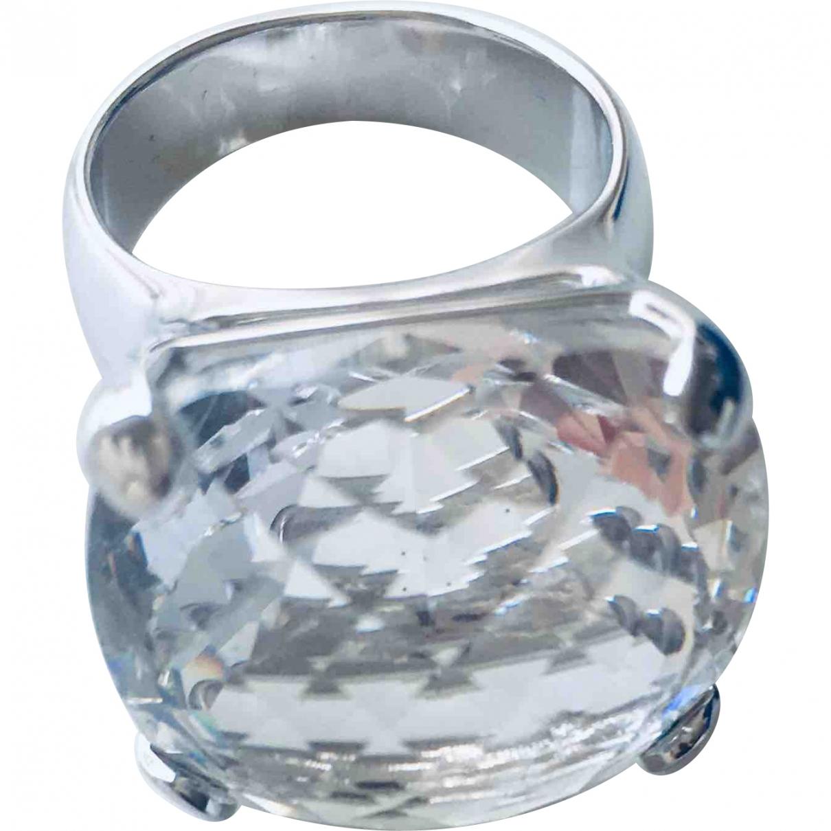 Swarovski \N Ring in  Silber Versilbert