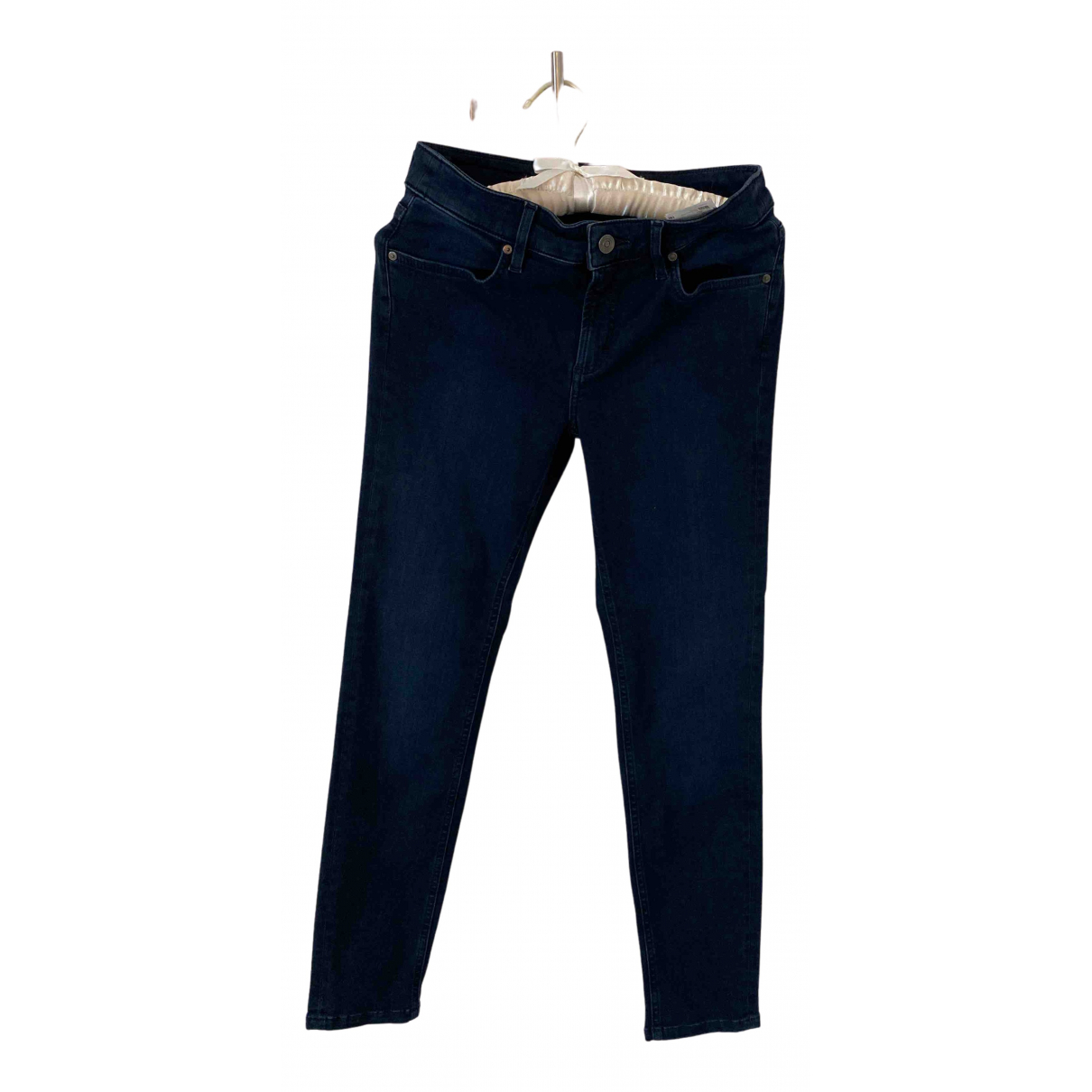 Escada N Navy Cotton Trousers for Women 34 FR