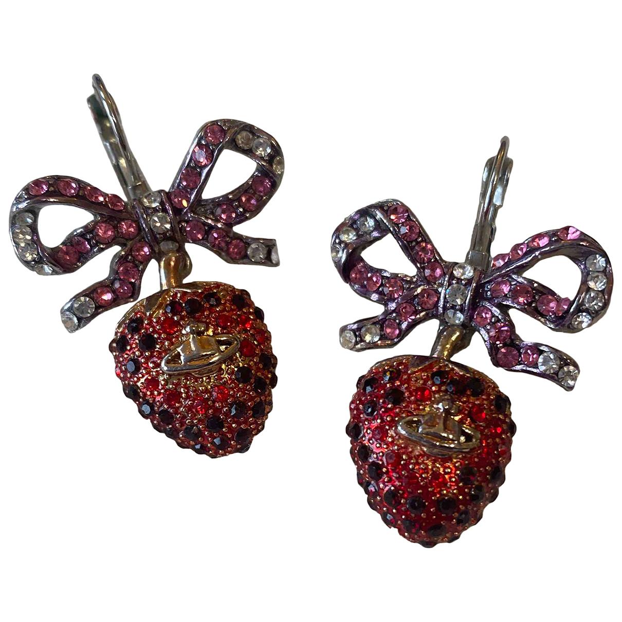 Vivienne Westwood N Red Metal Earrings for Women N