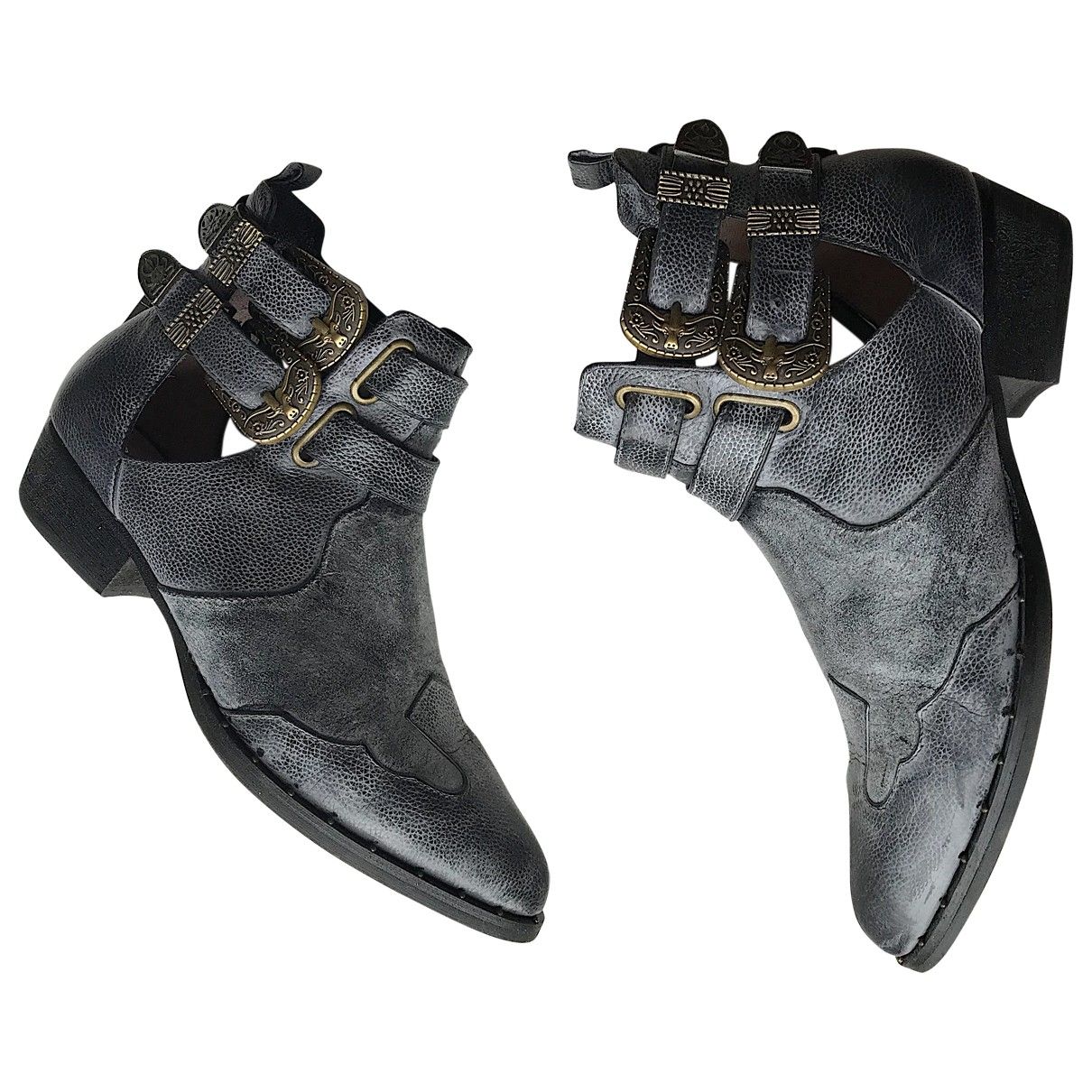 Senso \N Grey Leather Ankle boots for Women 36 EU