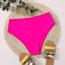Plain High Waisted Bikini Panty