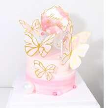 6 piezas decoracion de pastel con slogan