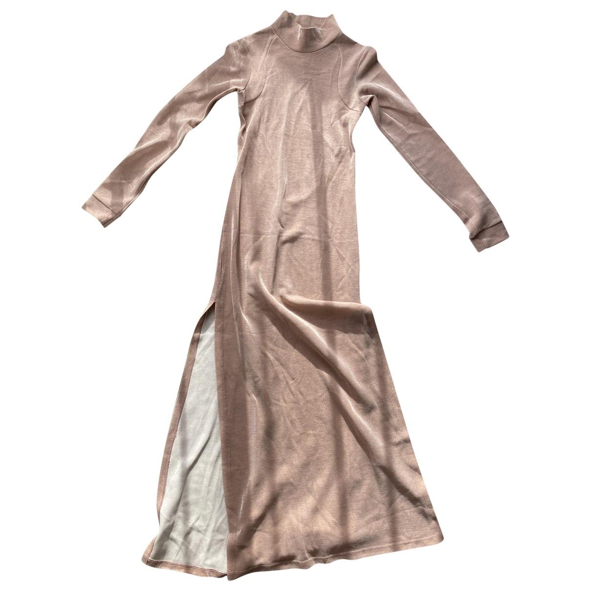 Michael Lo Sordo \N Kleid in  Beige Polyester
