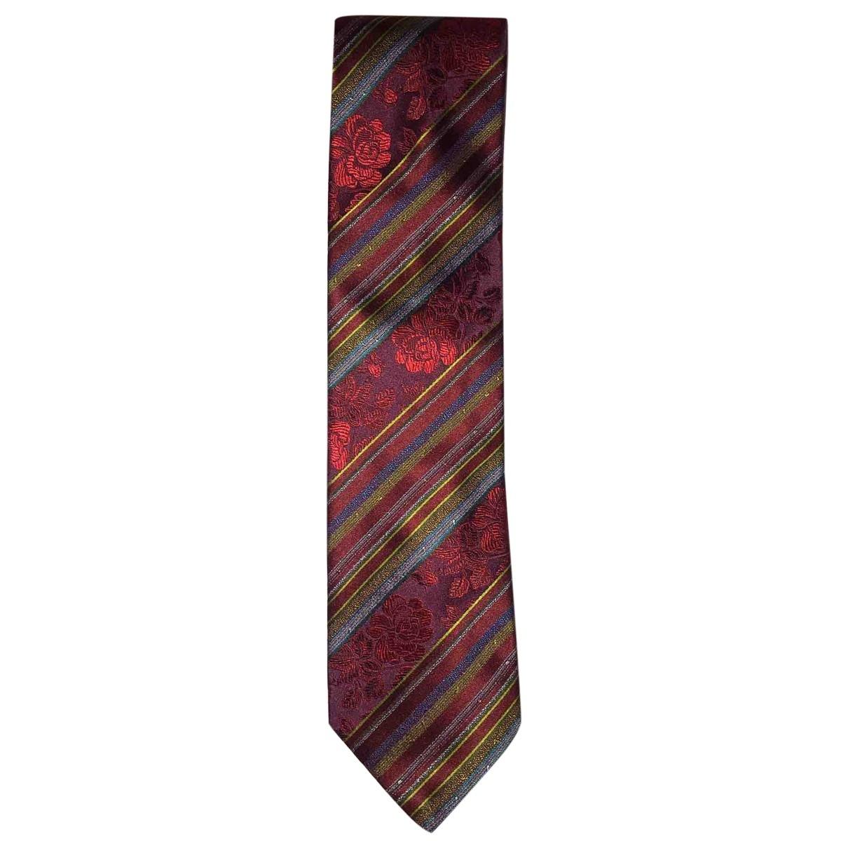 Kenzo - Cravates   pour homme en soie - bordeaux
