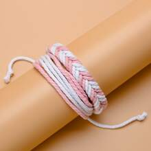 Zweifarbiges geflochtenes Armband