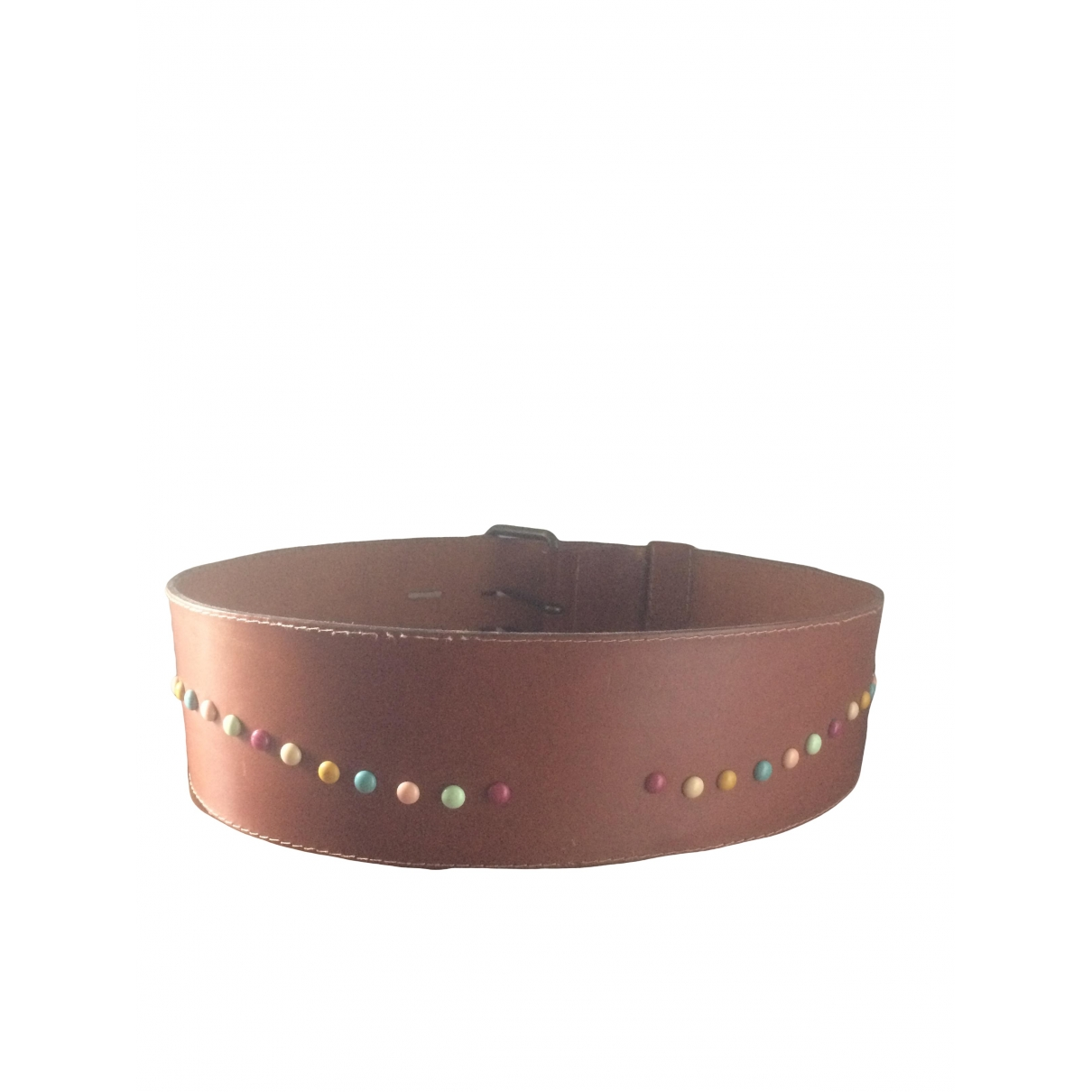 Non Signé / Unsigned Hippie Chic Brown Leather belt for Women M International