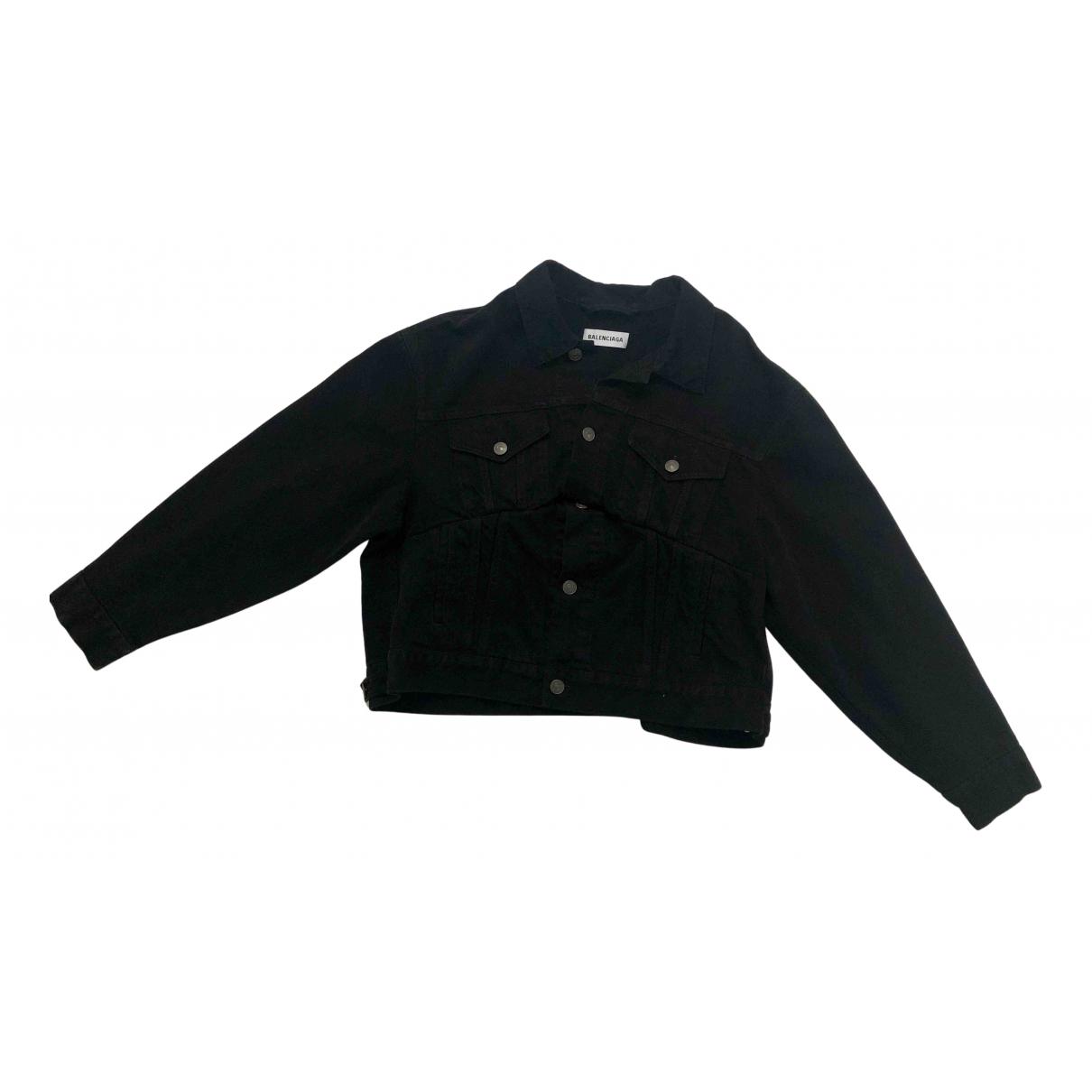 Balenciaga N Black Denim - Jeans jacket for Women 36 FR