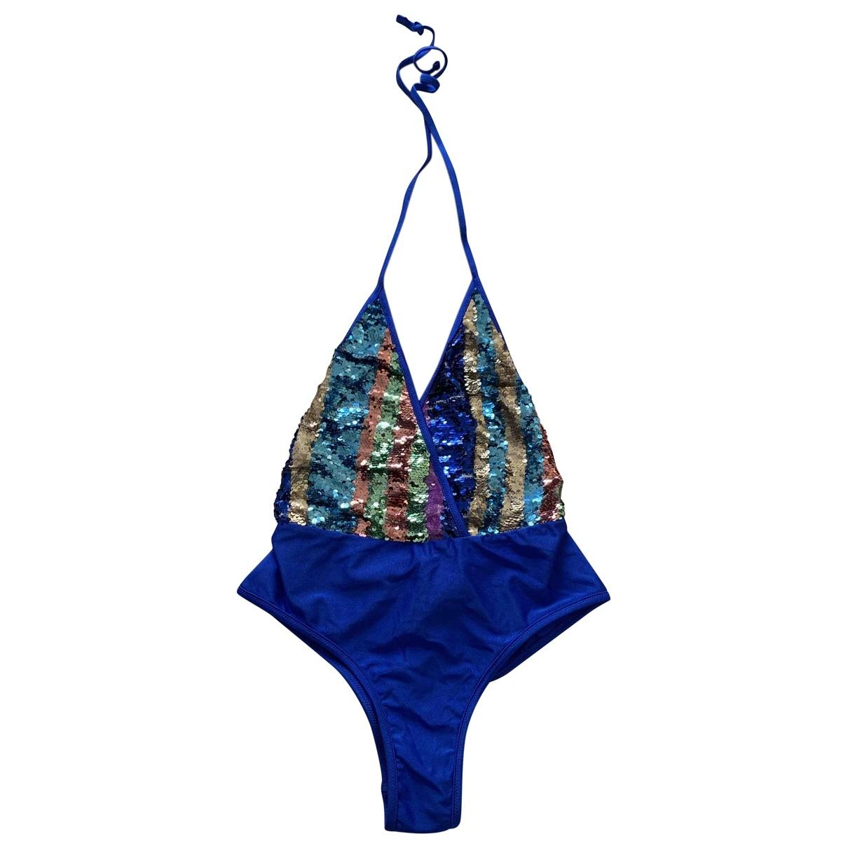 - Bain   pour femme en lycra - bleu