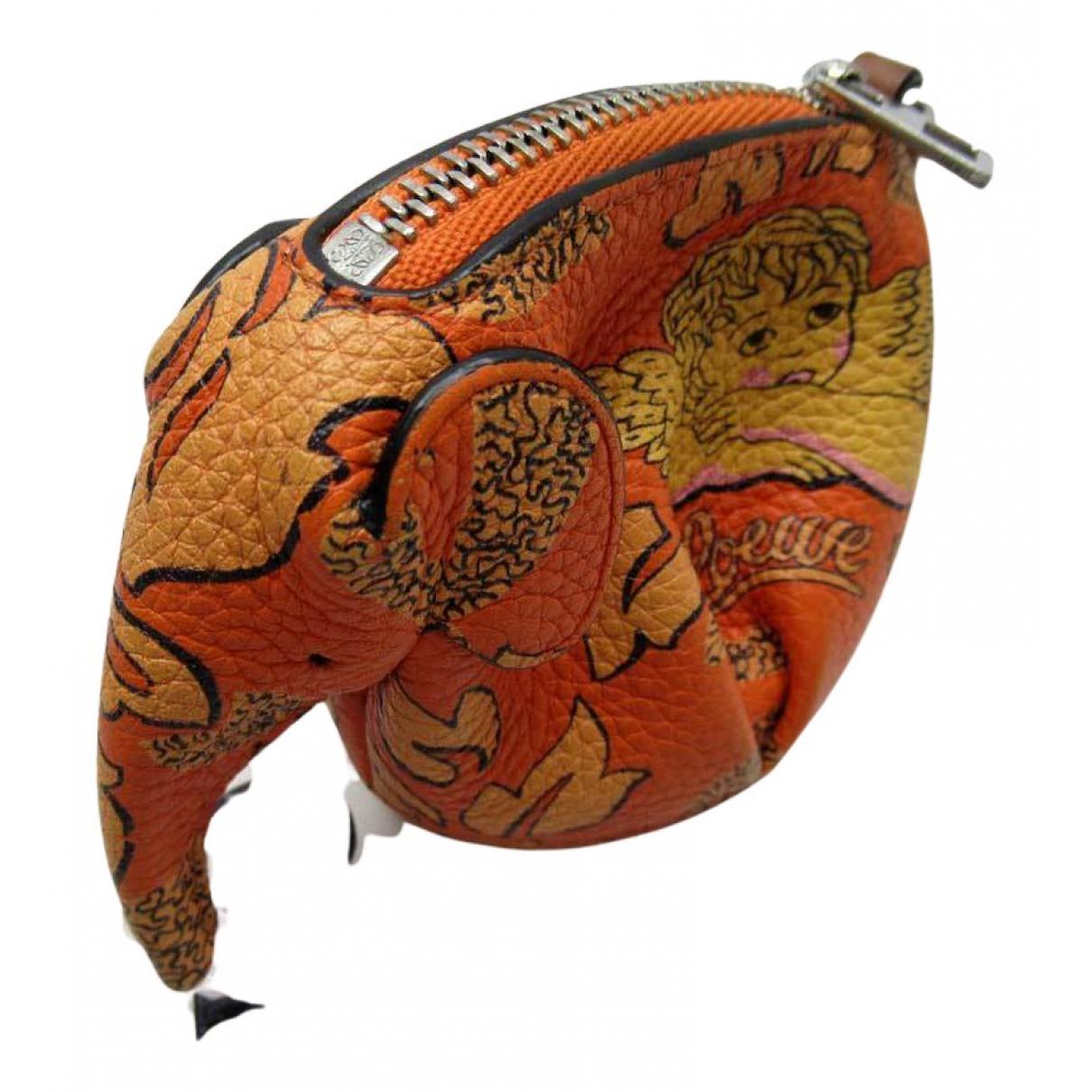 Loewe - Petite maroquinerie   pour femme en cuir - orange