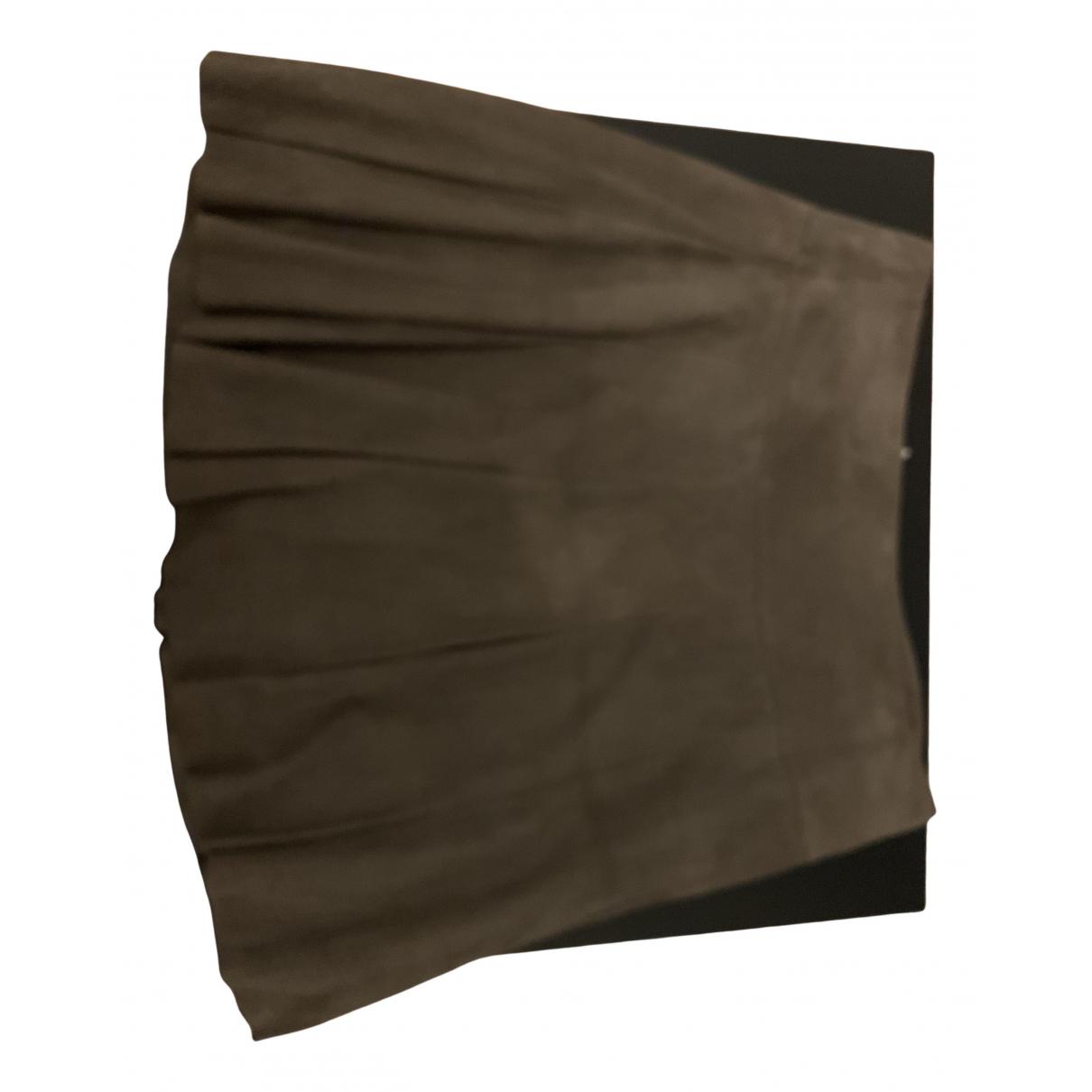 Giorgio & Mario N Khaki Leather skirt for Women 42 FR