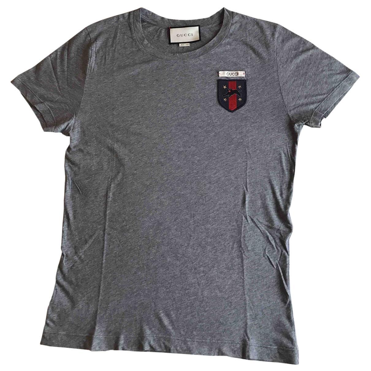 Gucci \N T-Shirts in  Grau Baumwolle