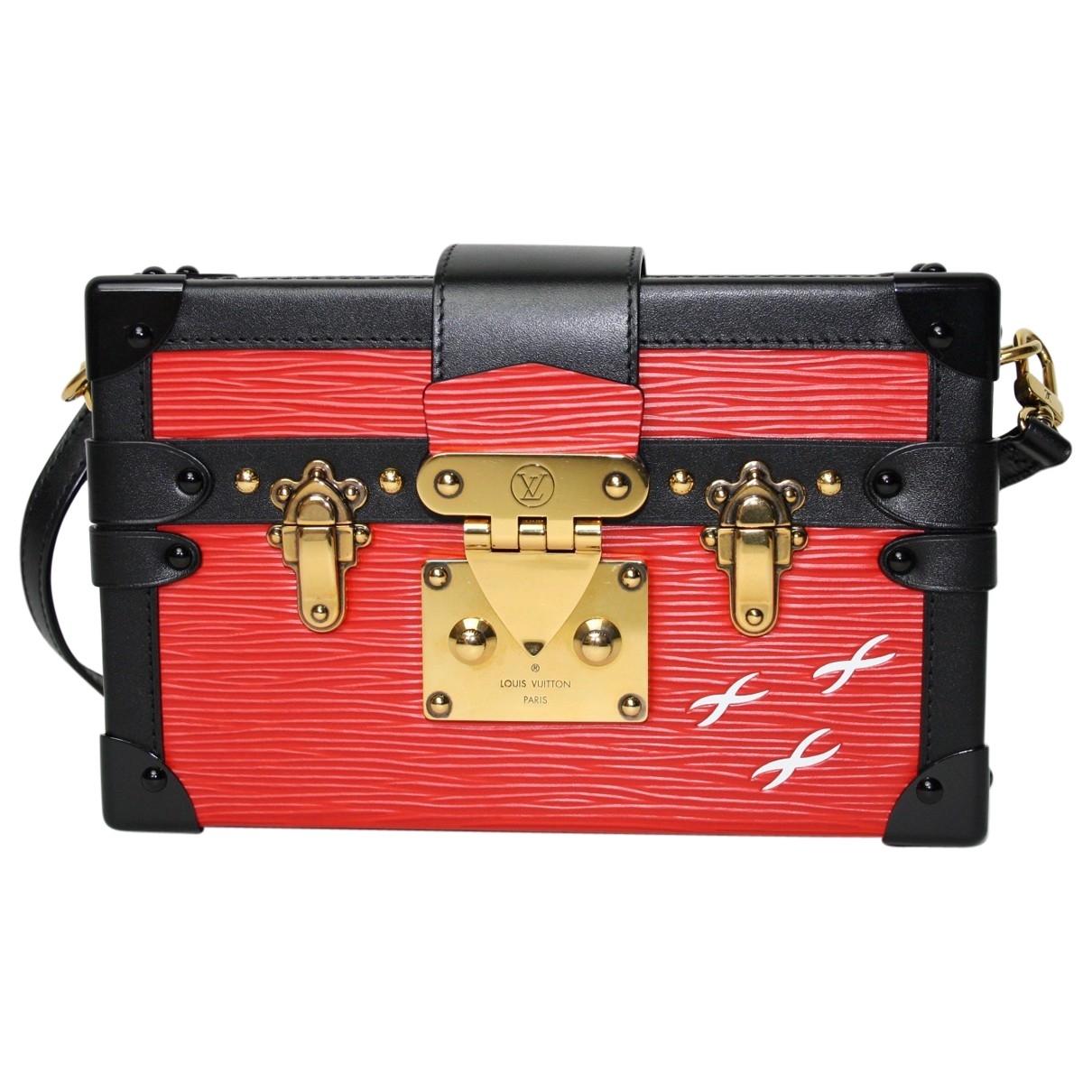 Louis Vuitton Petit Malle Clutch in  Rot Leder