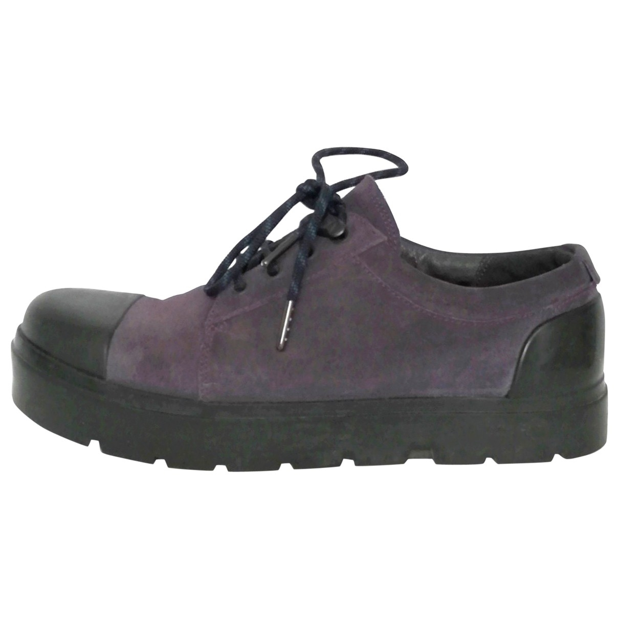 Camper \N Purple Suede Lace ups for Men 41 EU