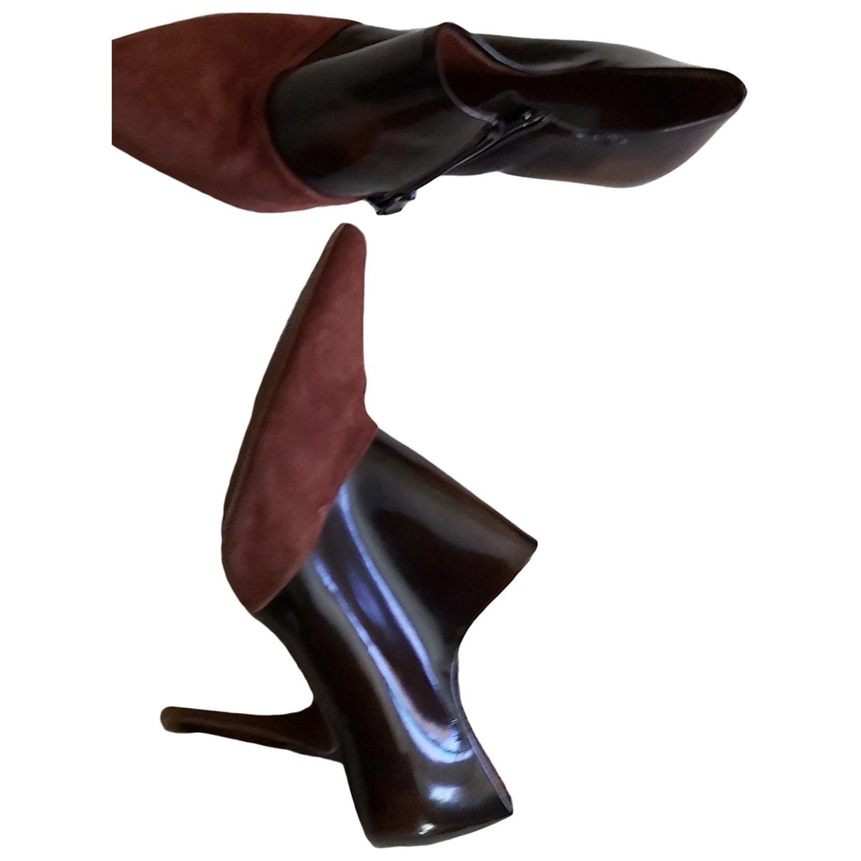 Uterque \N Stiefel in  Bordeauxrot Exotenleder