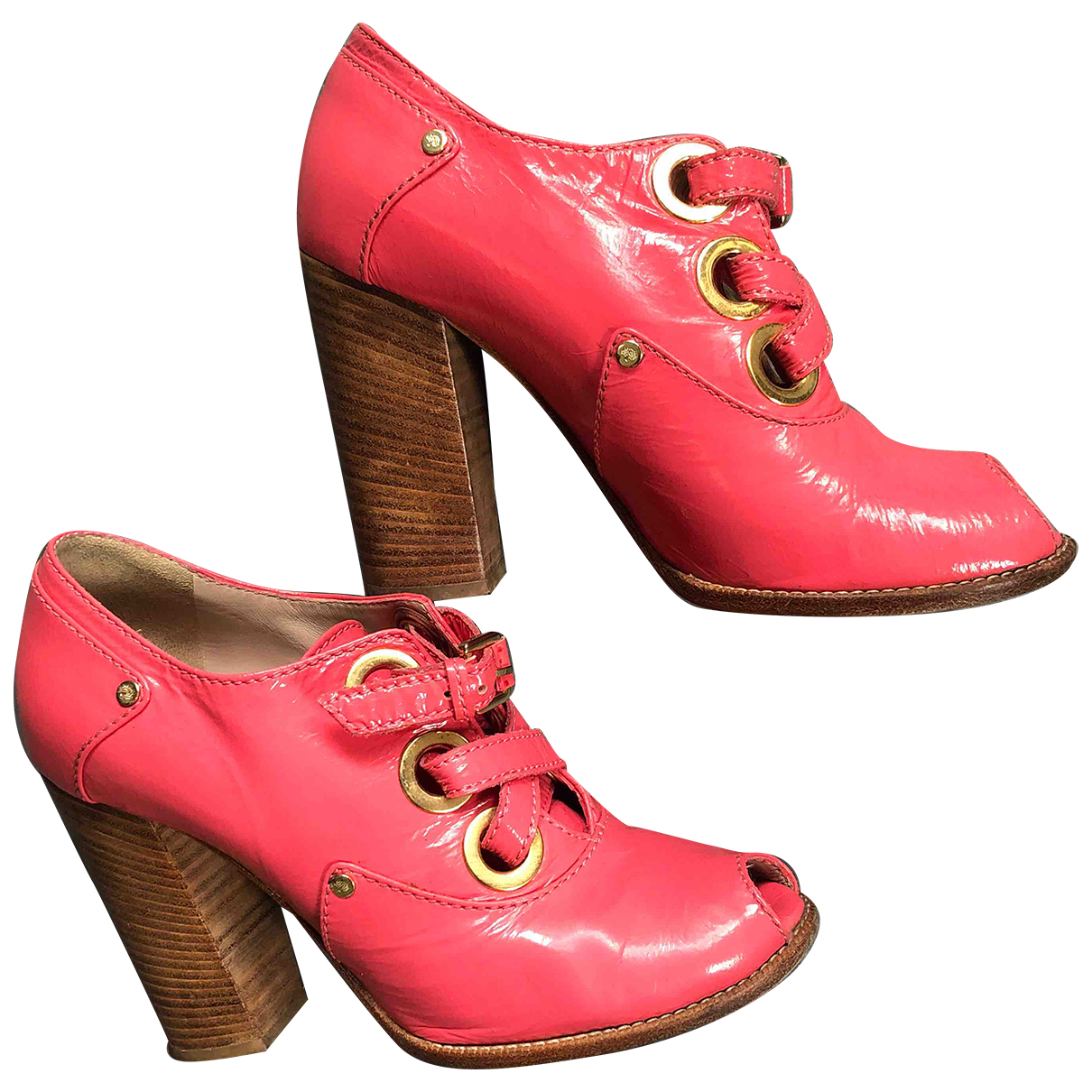 Mulberry N Pink Patent leather Ankle boots for Women 37 EU