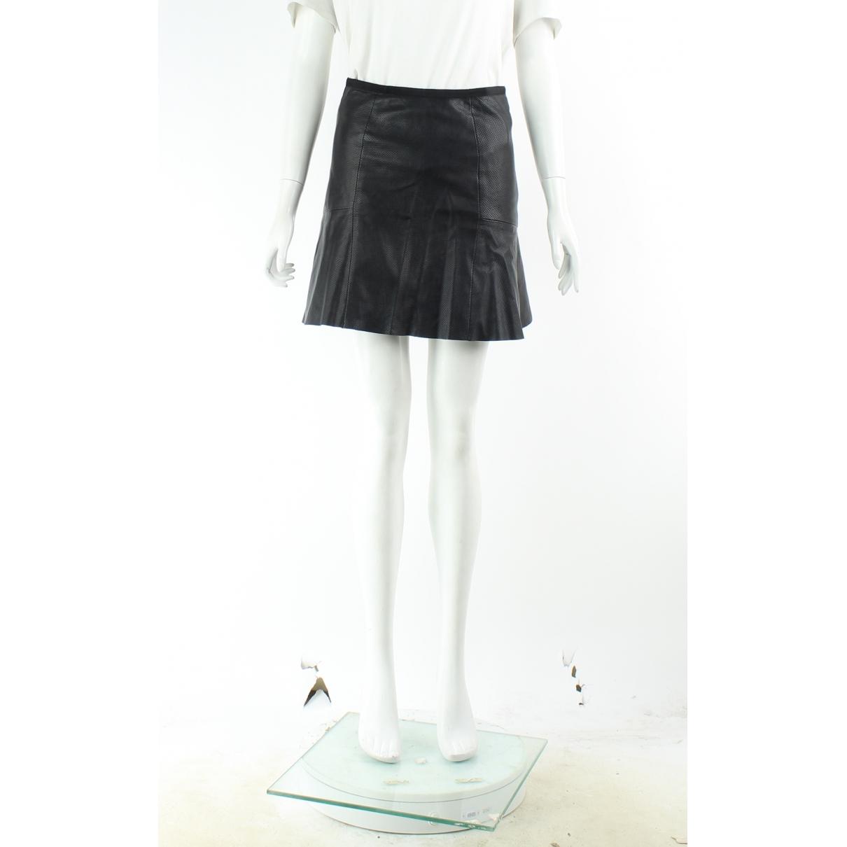 Sandro \N Black Leather skirt for Women 4 UK