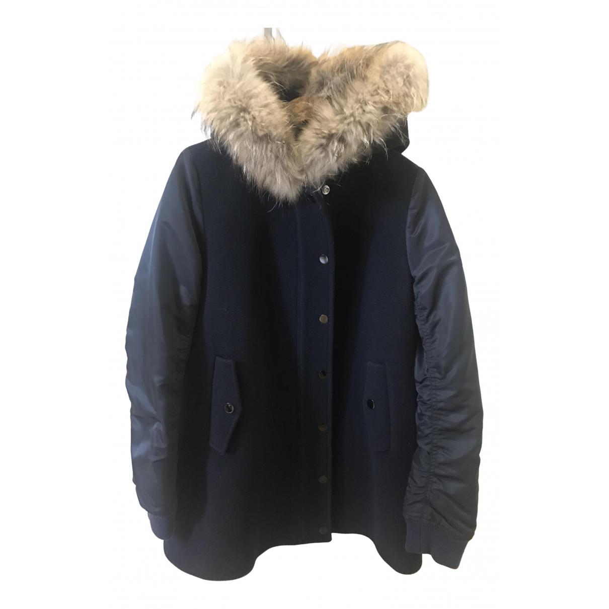 Sandro - Manteau Fall Winter 2019 pour femme en laine - bleu