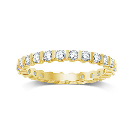 1 CT. T.W. Diamond 14K Yellow Gold Eternity Band, 9 , No Color Family