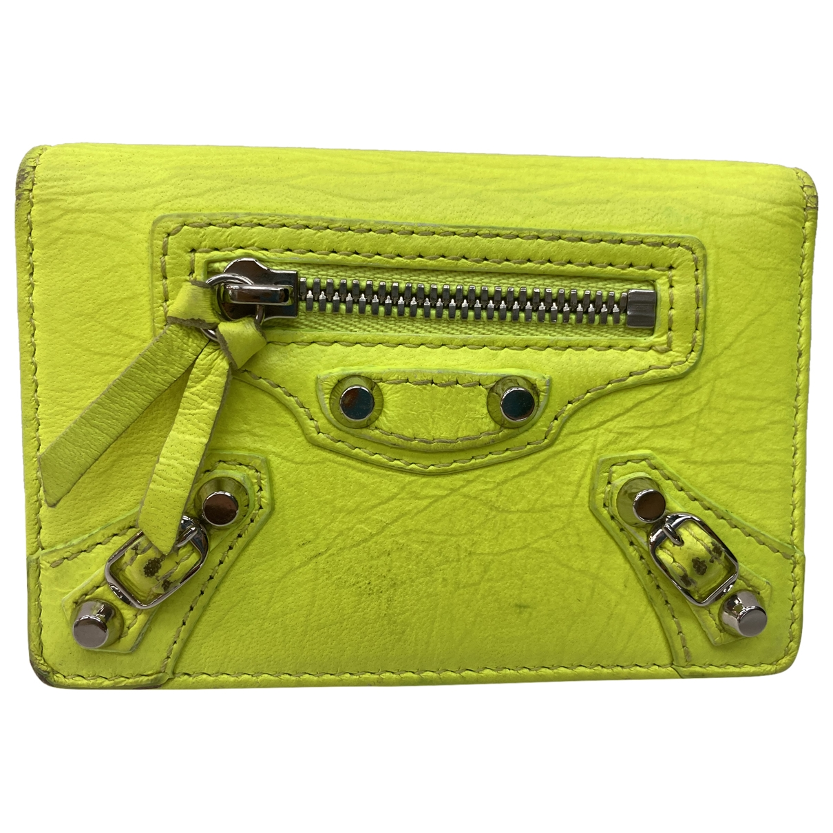Balenciaga \N Yellow Leather Purses, wallet & cases for Women \N