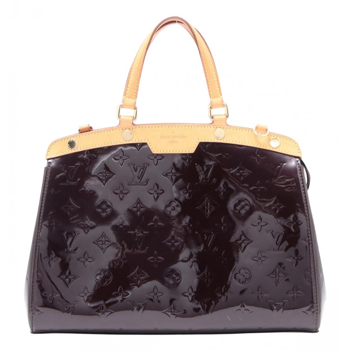 Louis Vuitton - Sac a main Brea pour femme en cuir verni - marron