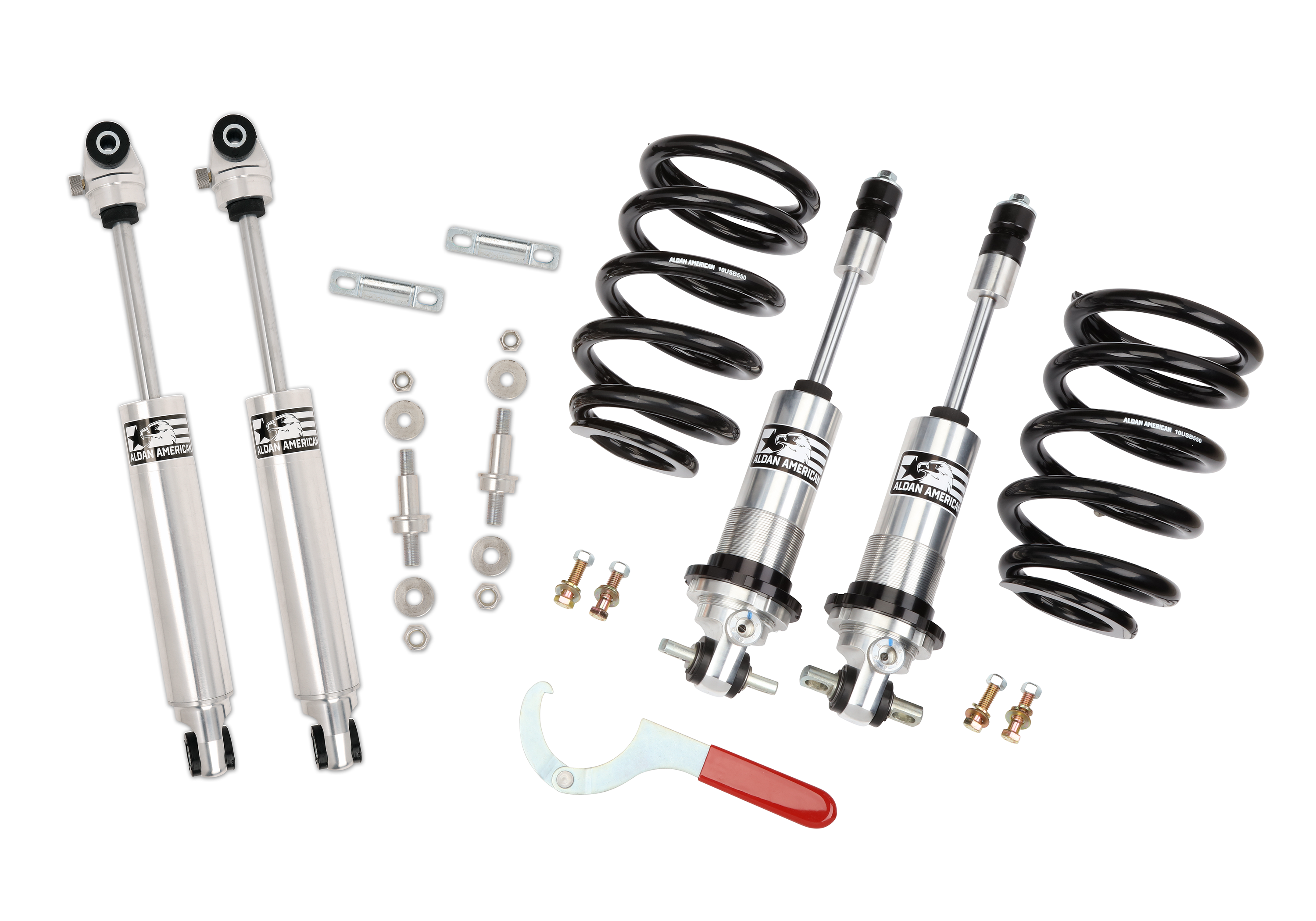 Aldan American 300168 Suspension Package, Road Comp, GM, 64-67 A-Body, Coilovers with Shocks, SB, Kit