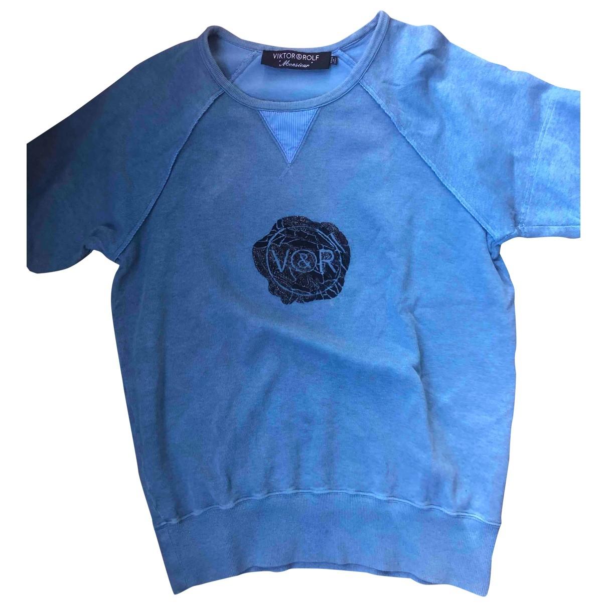 Viktor & Rolf \N Pullover.Westen.Sweatshirts  in  Blau Baumwolle