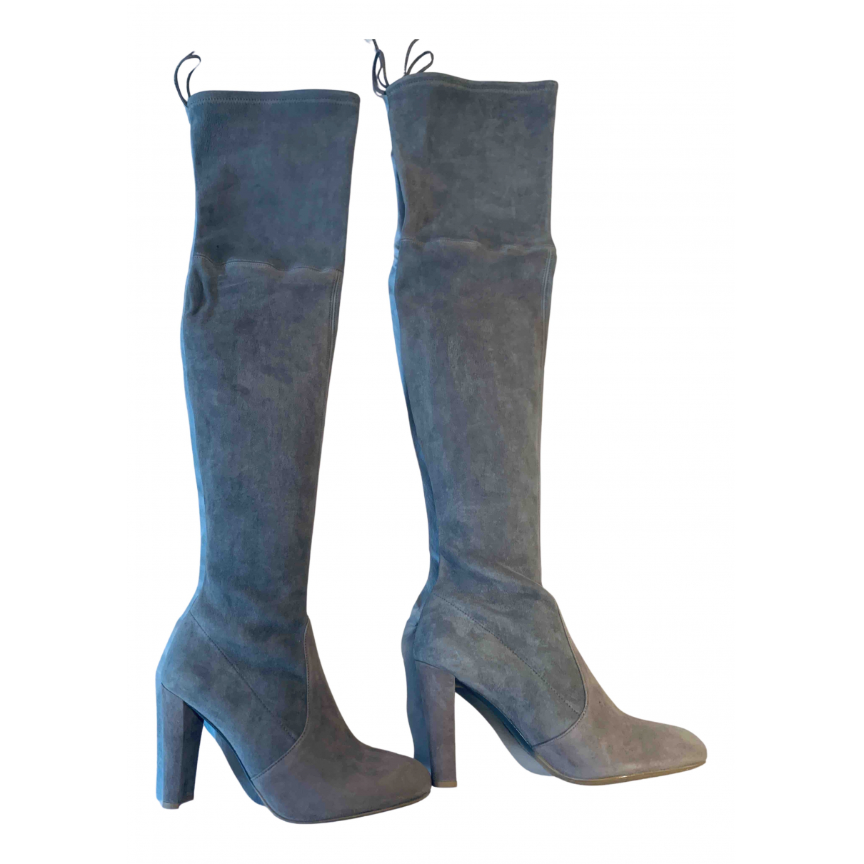 Stuart Weitzman N Grey Suede Boots for Women 8.5 UK