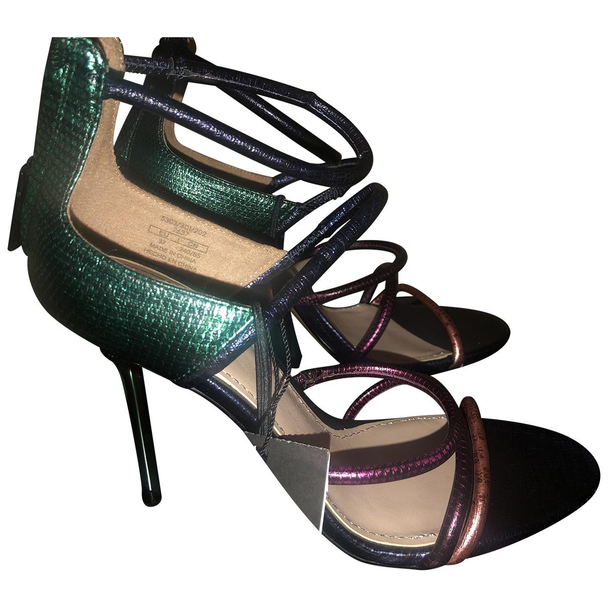 Zara - Sandales   pour femme en a paillettes - multicolore