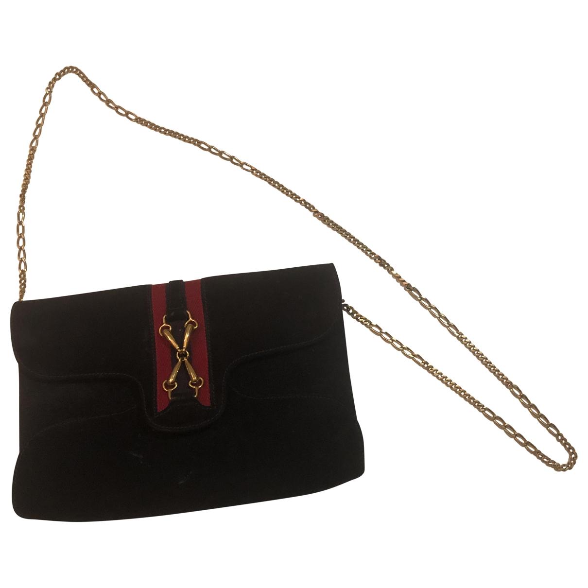Gucci \N Blue Suede Clutch bag for Women \N
