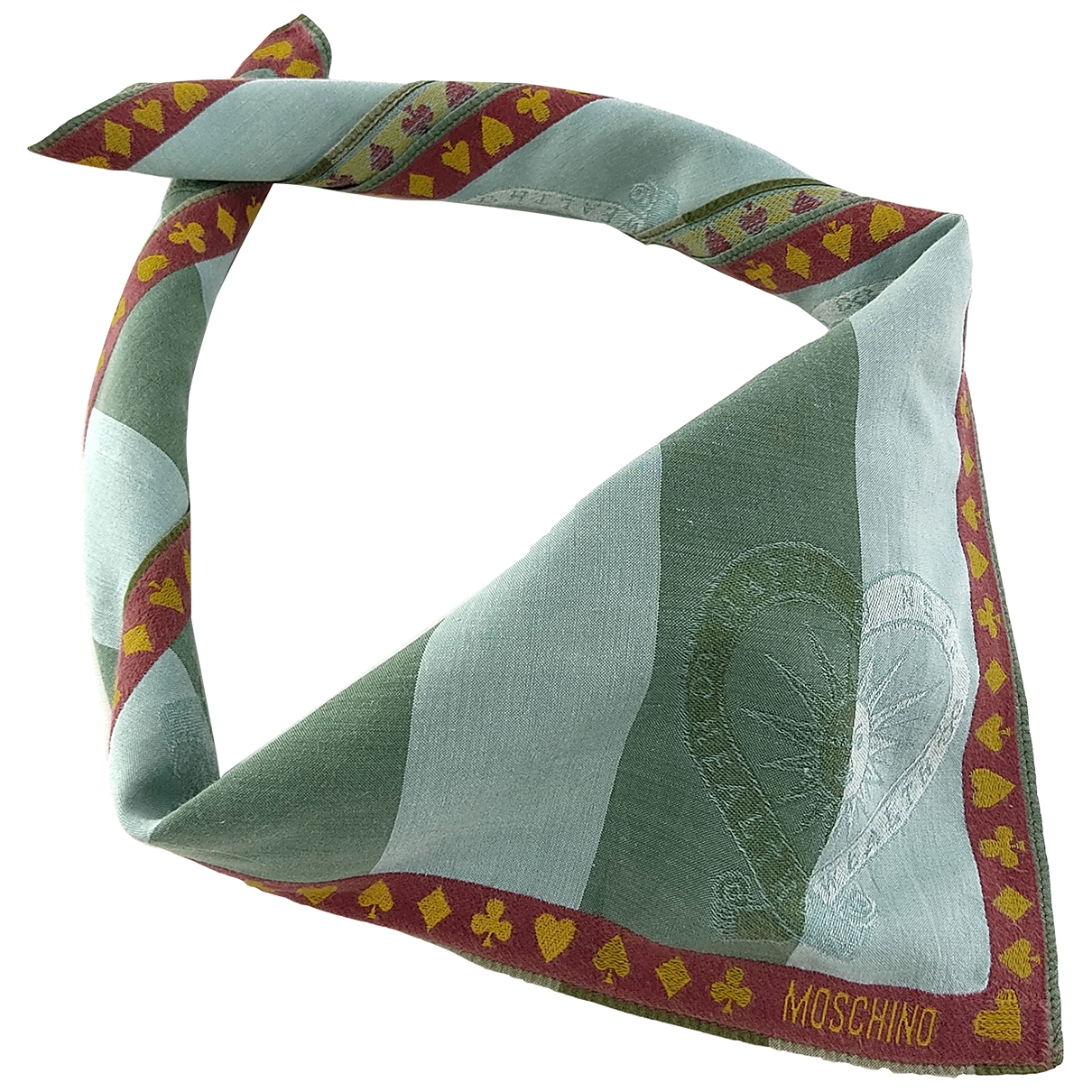 Moschino \N Multicolour Cotton scarf & pocket squares for Men \N