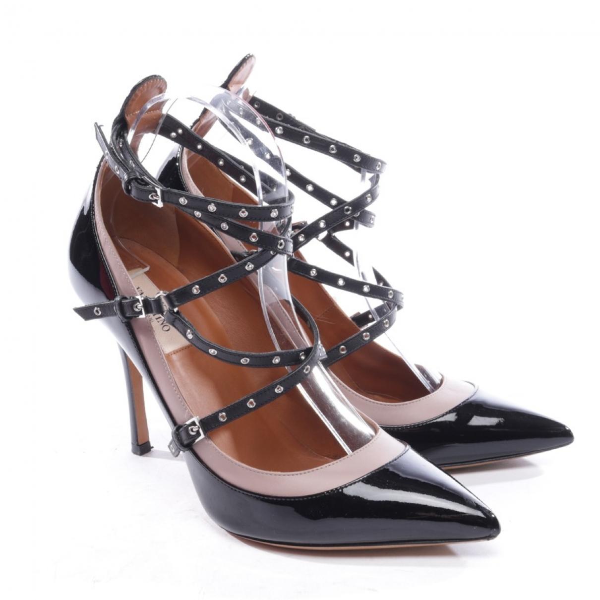 Valentino Garavani \N Black Patent leather Heels for Women 39.5 EU