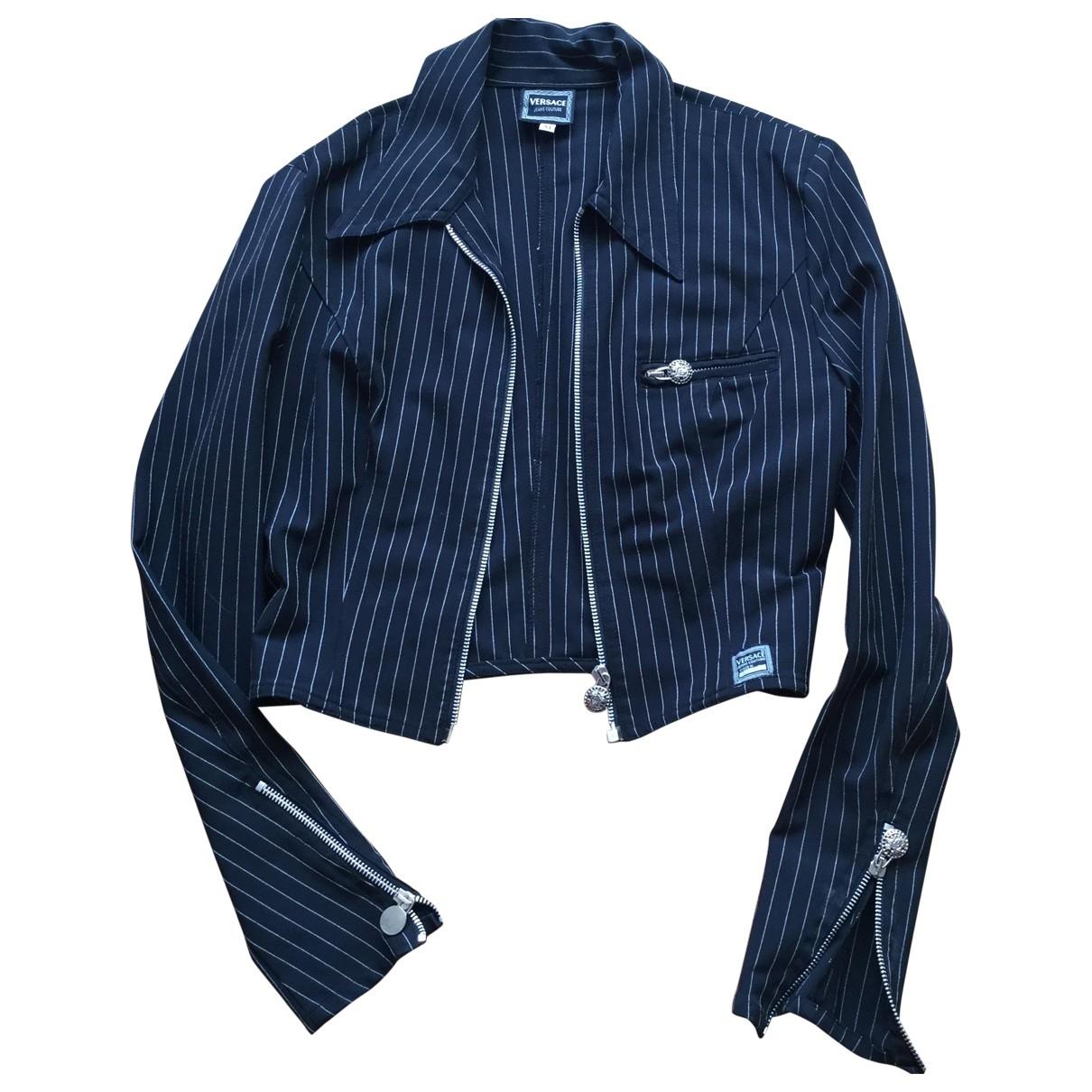 Chaqueta en Poliester Negro Versace Jeans