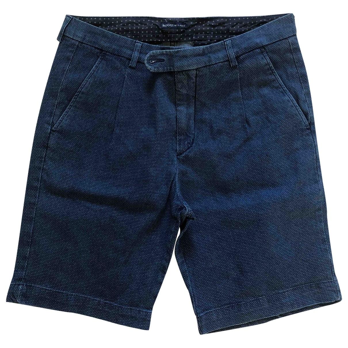 Boggi \N Shorts in  Blau Baumwolle
