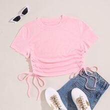 Camisetas Cordon Liso Bebe Rosa Casual