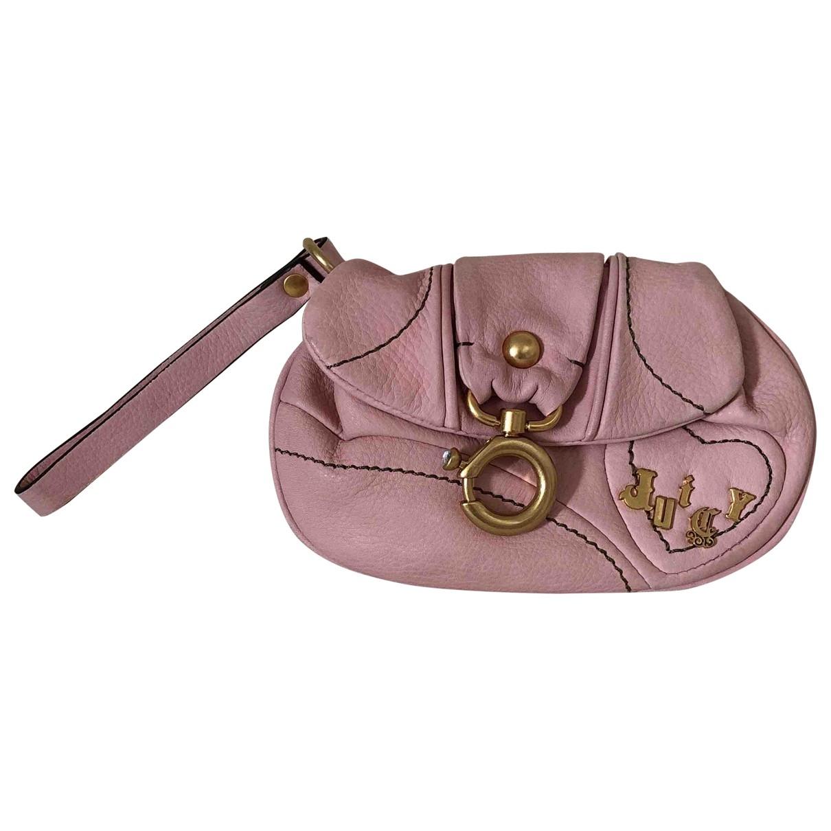 Juicy Couture \N Portemonnaie in  Rosa Leder
