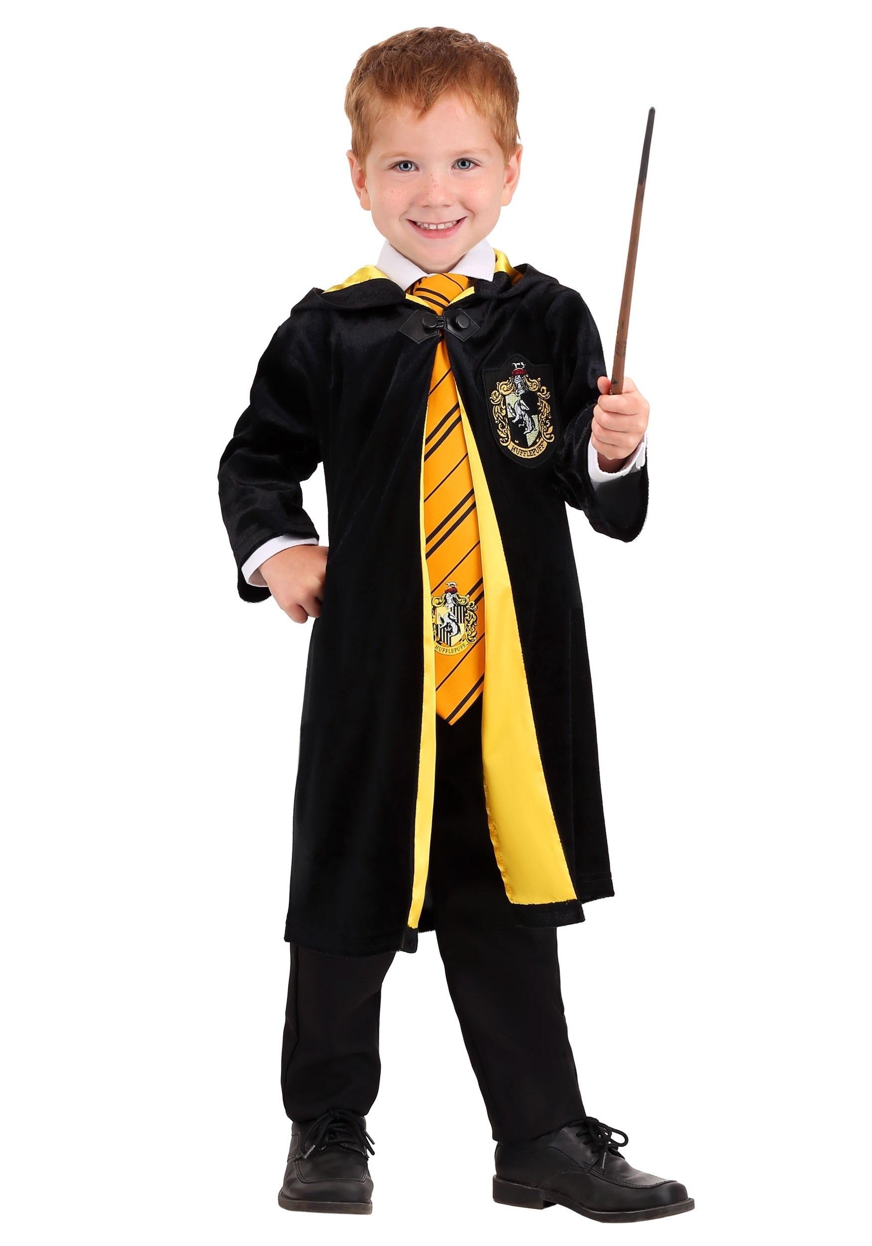 Harry Potter Kids Deluxe Hufflepuff Robe Costume