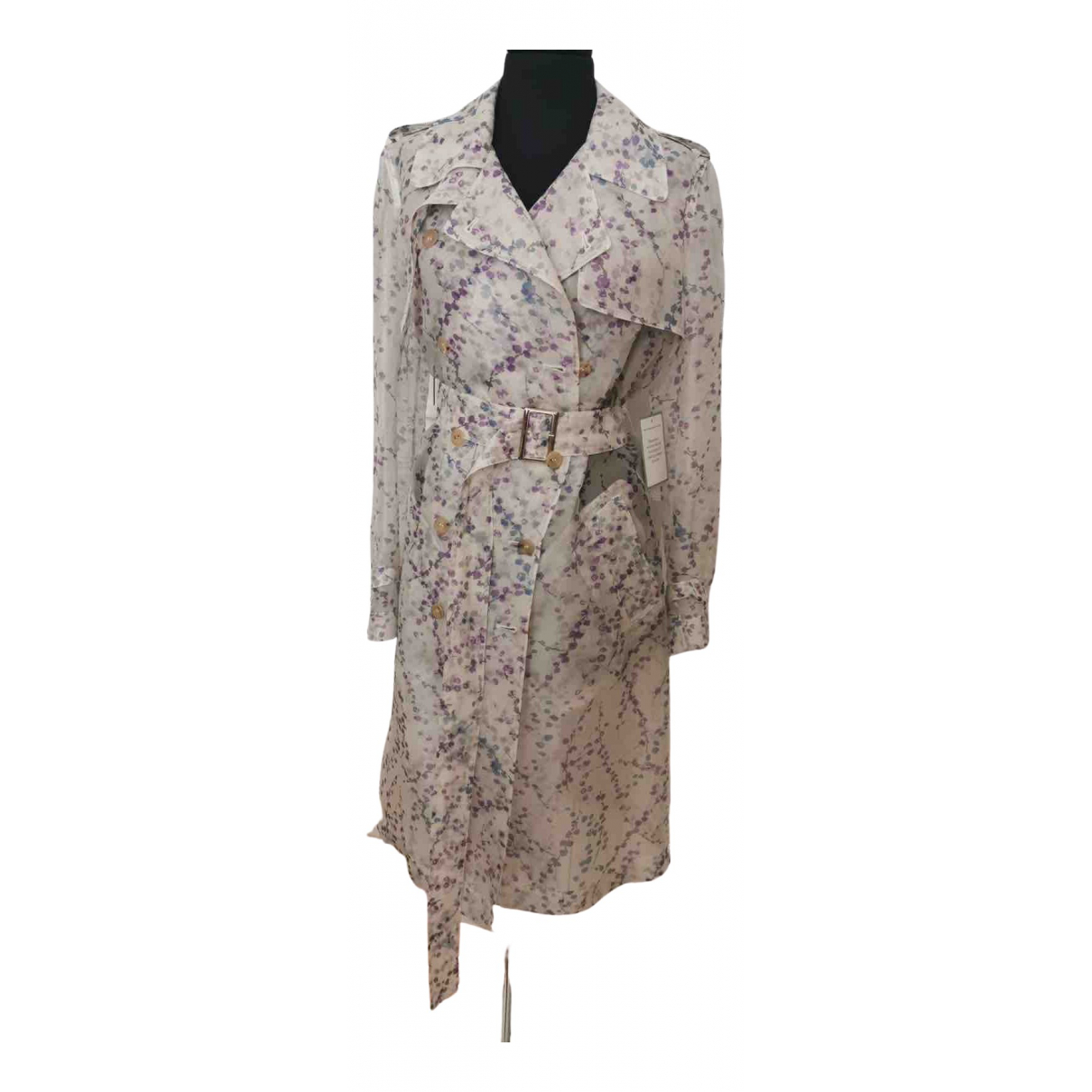 Max Mara \N Multicolour Silk Trench coat for Women 40 IT
