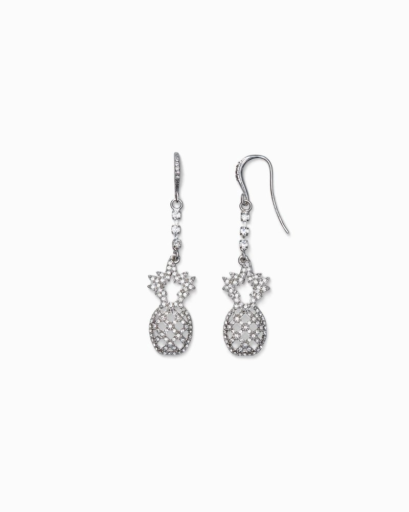 Pineapple Earrings With Swarovski® Crystals