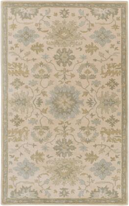 Caesar CAE-1161 6' x 9' Rectangle Traditional Rug in Beige  Sage  Light Grey  Olive