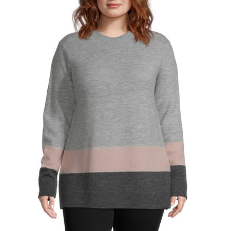 Liz Claiborne Colorbock Sweater - Plus, 3x , Pink
