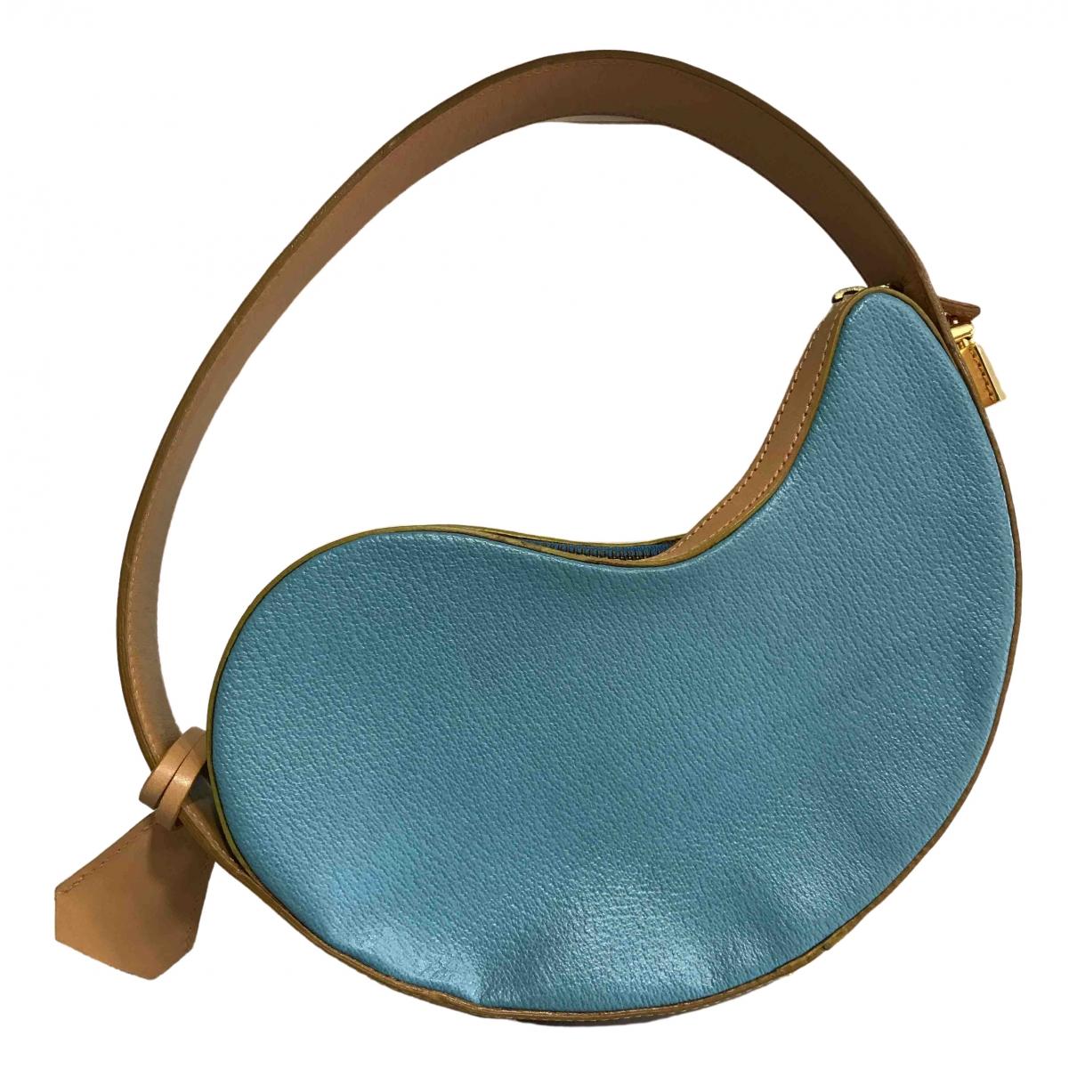 Etro \N Handtasche in  Tuerkis Leder