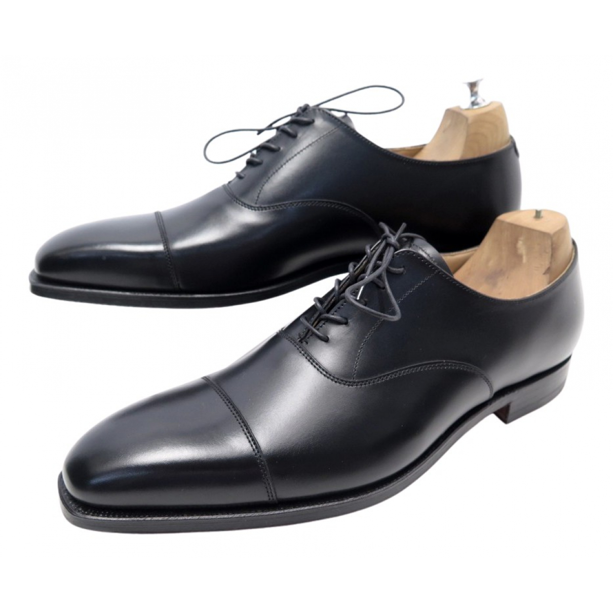 Crockett& Jones - Derbies   pour homme en cuir - noir