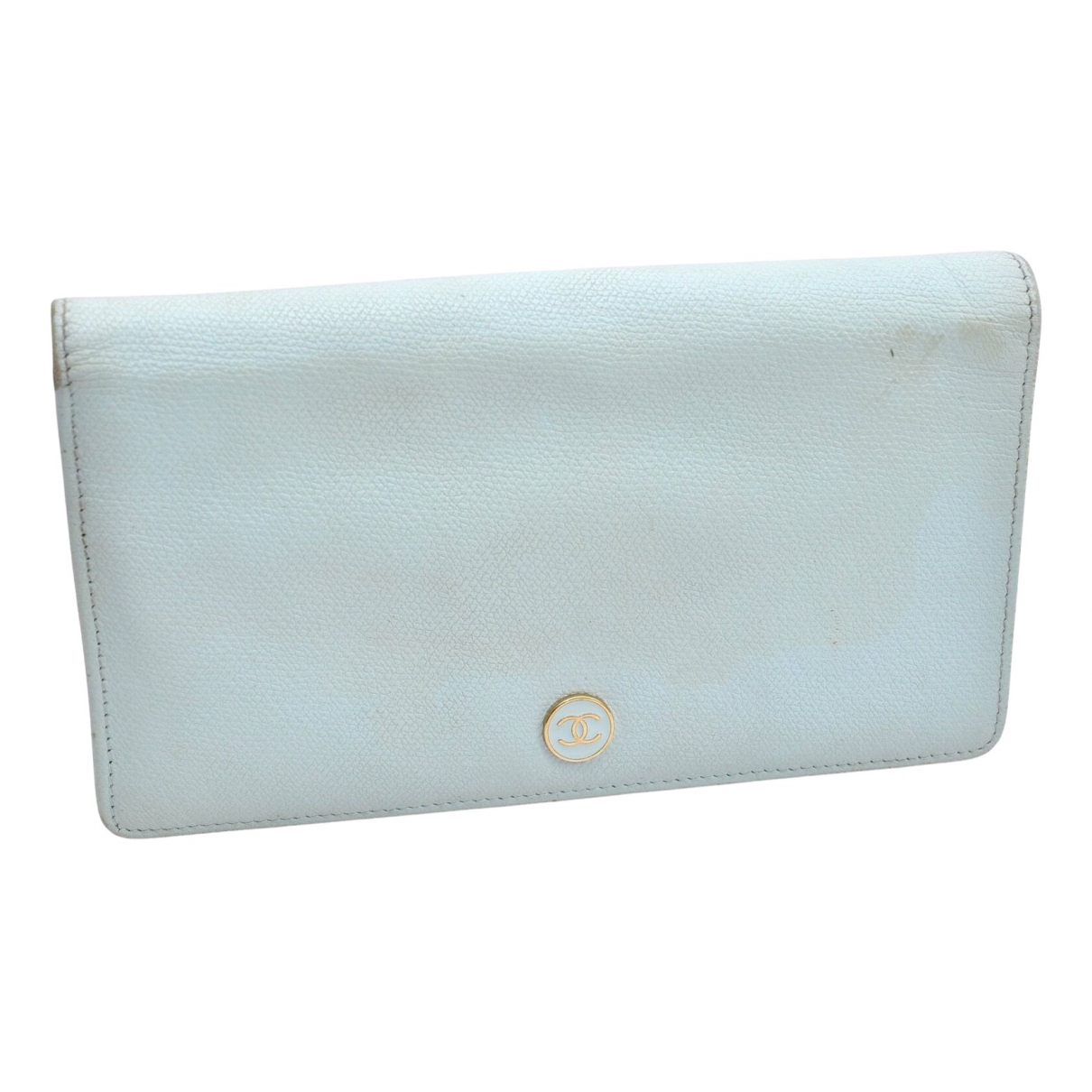Chanel \N Portemonnaie in  Blau Leder