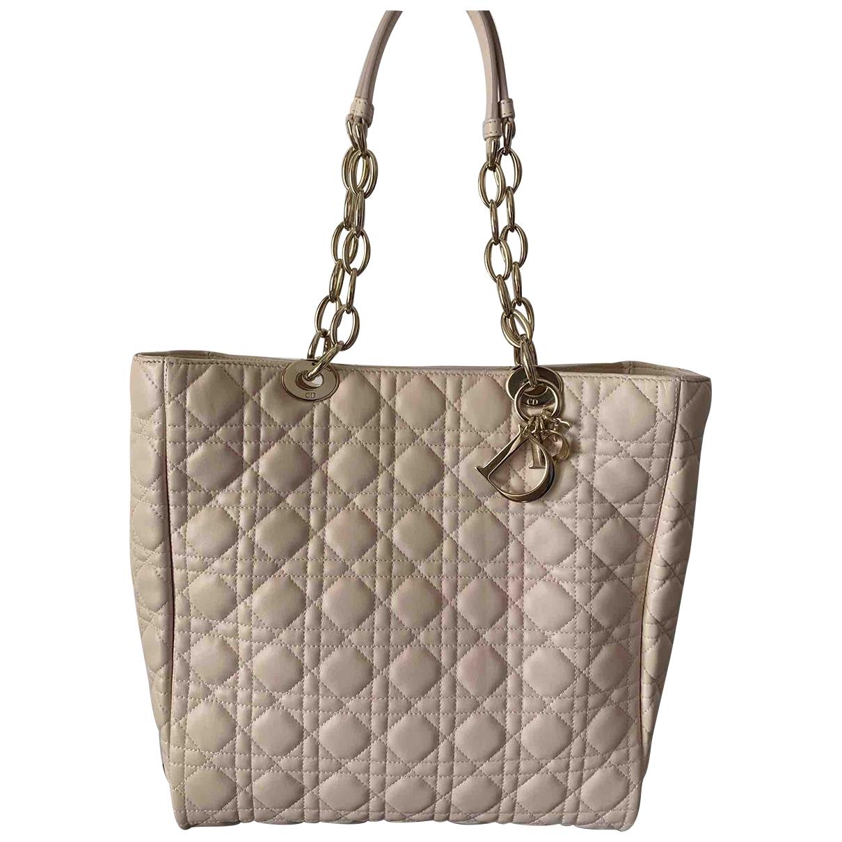 Dior Dior Soft Shopping Handtasche in  Rosa Leder