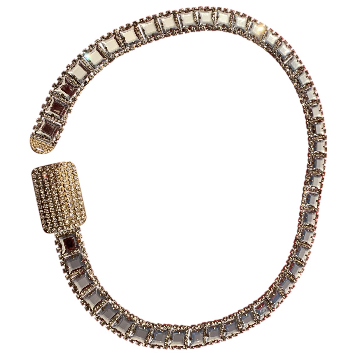 Non Signé / Unsigned \N White belt for Women 90 cm