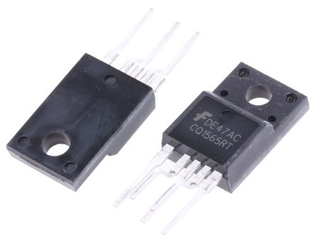 ON Semiconductor FSCQ1565RTYDTU, 1-Channel Intelligent Power Switch 5-Pin, TO-220F (5)
