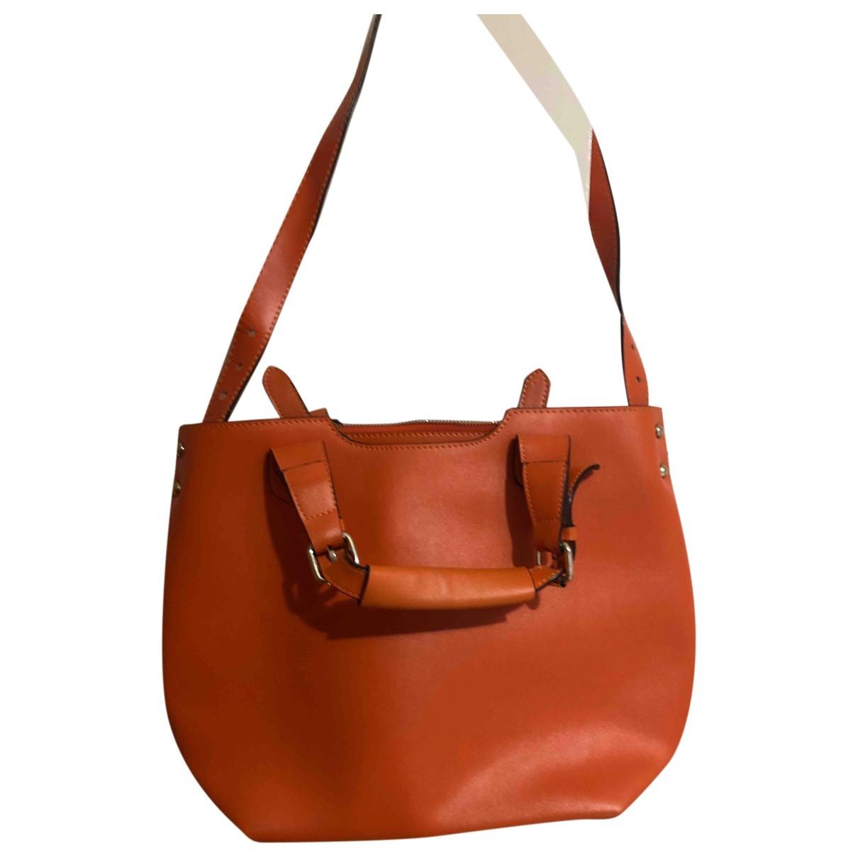 Non Signé / Unsigned \N Orange Leather handbag for Women \N