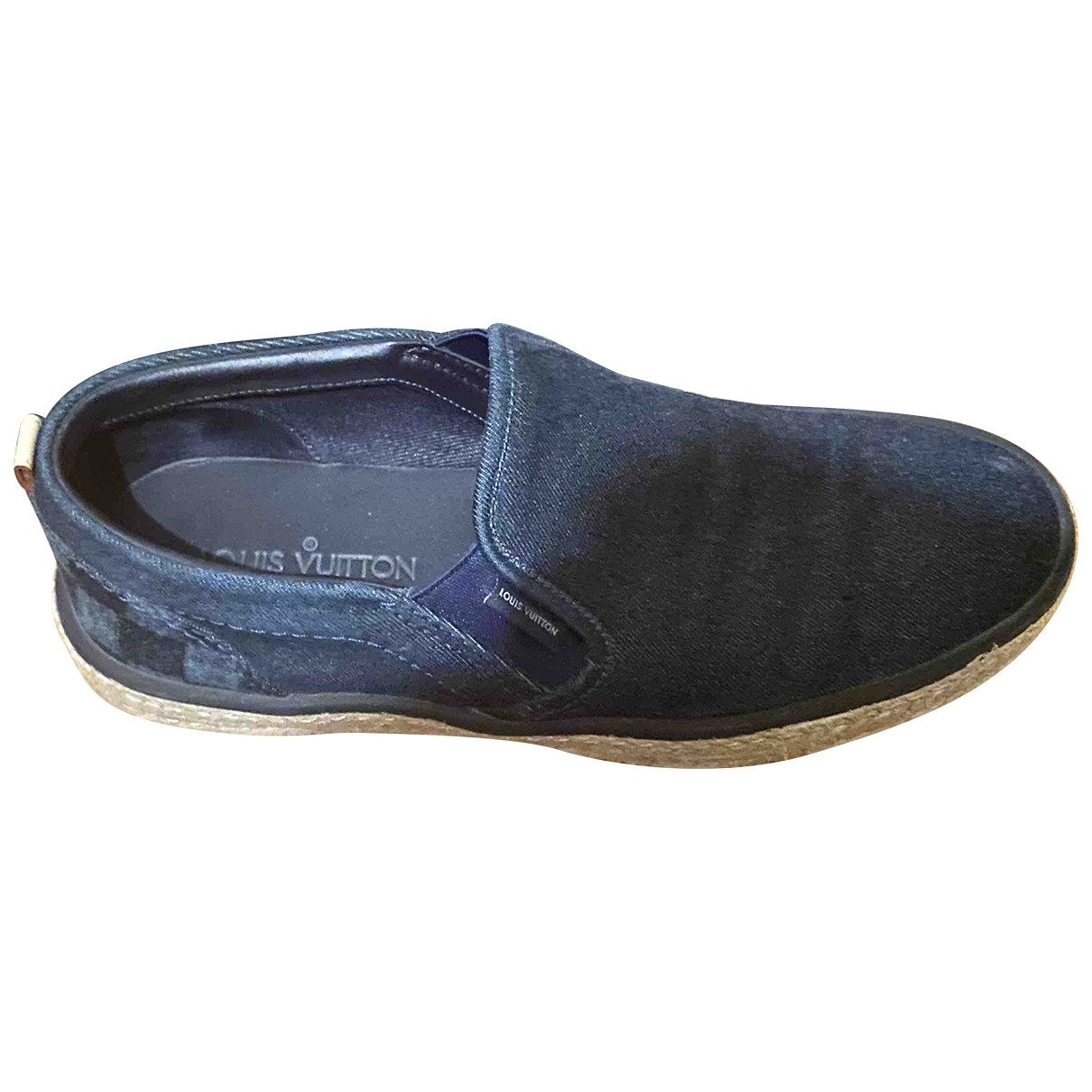 Louis Vuitton \N Navy Cloth Trainers for Men 7 UK