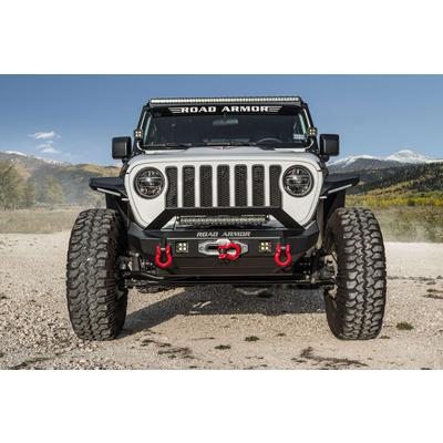 Road Armor Stealth Winch Front Mid-With Bumper (Black) - 5182F3B