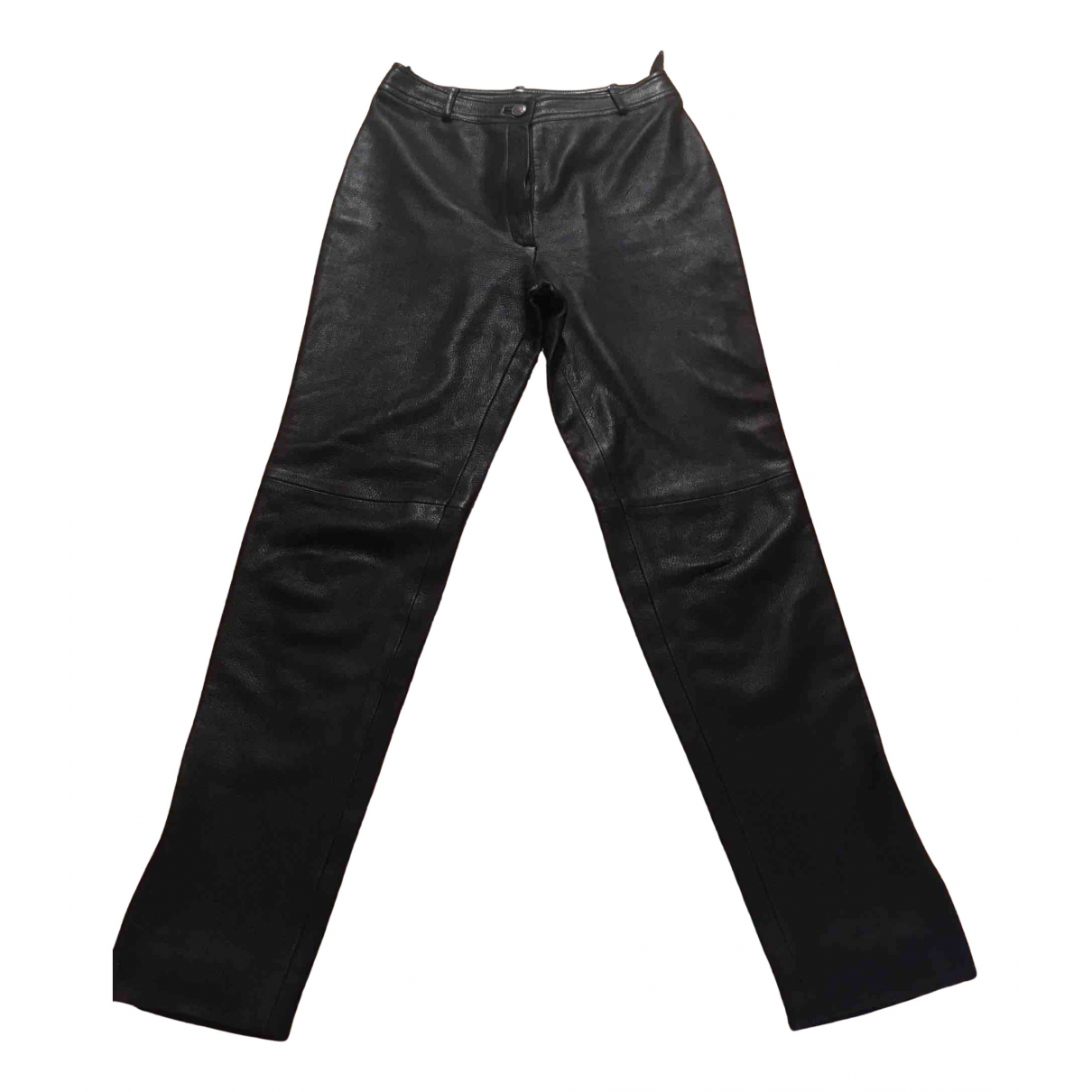 Chanel N Black Leather Trousers for Women 40 IT